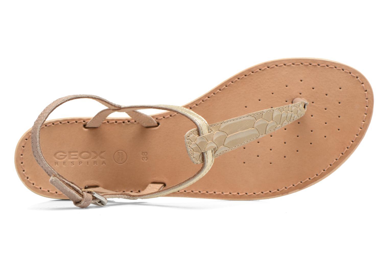 Sandales et nu-pieds Geox D SOZY F D622CF Beige vue gauche