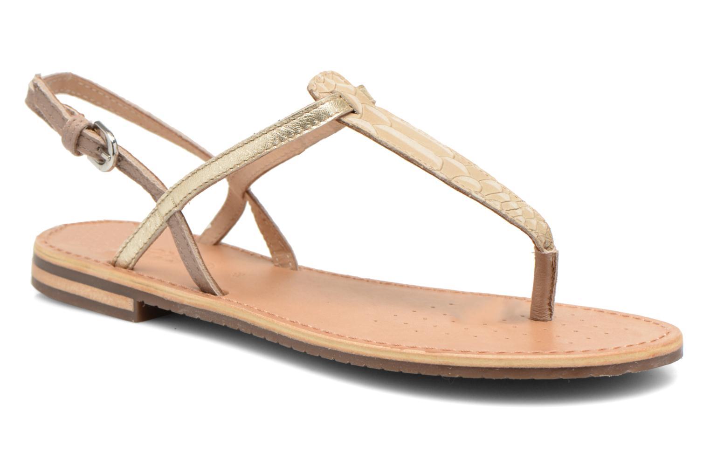 Sandales et nu-pieds Geox D SOZY F D622CF Beige vue détail/paire