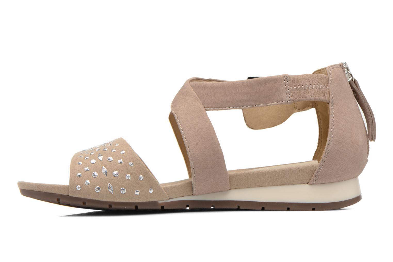 Sandales et nu-pieds Geox D FORMOSA D D6293D Beige vue face