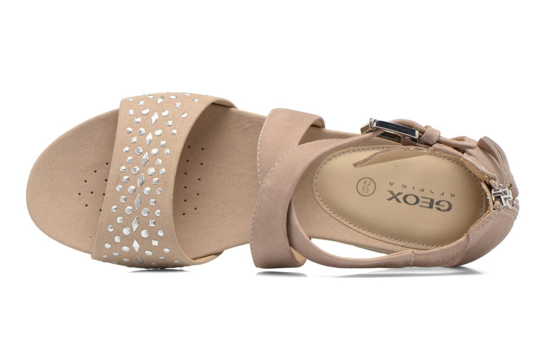 Sandales et nu-pieds Geox D FORMOSA D D6293D Beige vue gauche