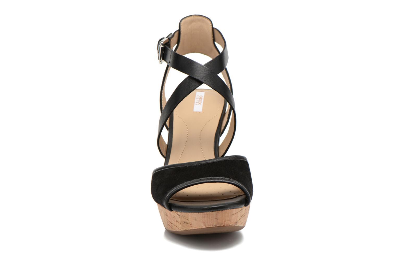 Sandales et nu-pieds Geox D HERITAGE A D62R1A Noir vue portées chaussures