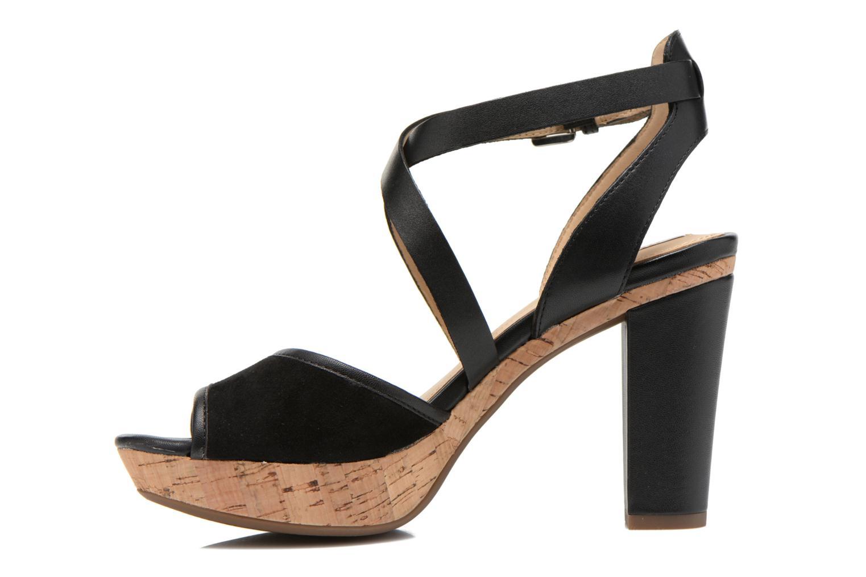 Sandales et nu-pieds Geox D HERITAGE A D62R1A Noir vue face
