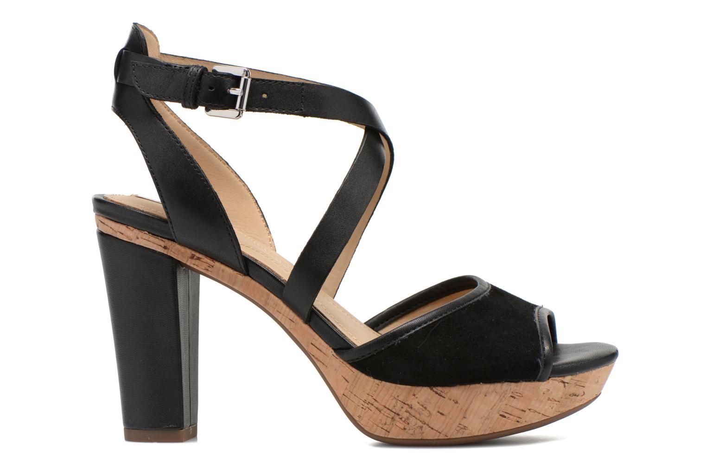 Sandales et nu-pieds Geox D HERITAGE A D62R1A Noir vue derrière