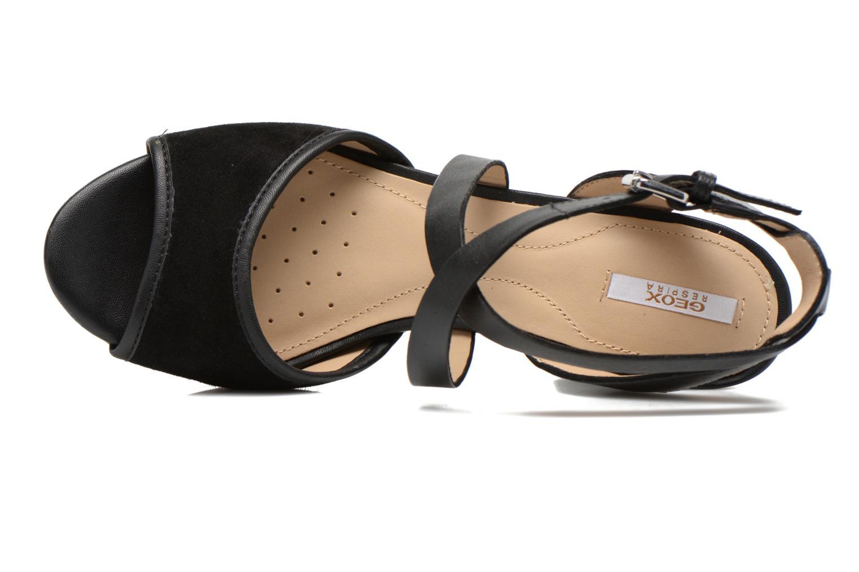 Sandales et nu-pieds Geox D HERITAGE A D62R1A Noir vue gauche