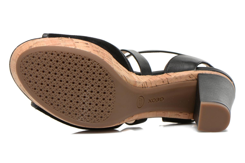 Sandales et nu-pieds Geox D HERITAGE A D62R1A Noir vue haut