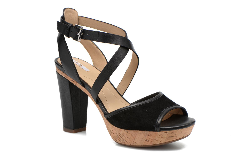 Sandales et nu-pieds Geox D HERITAGE A D62R1A Noir vue détail/paire