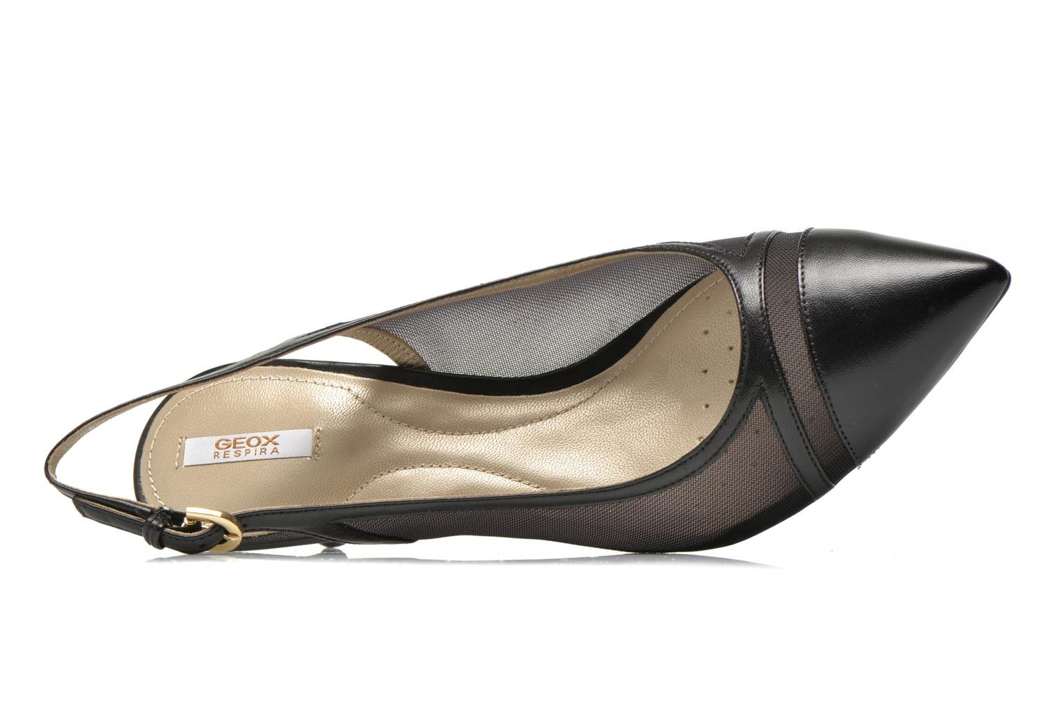High heels Geox D ELINA C D62P8C Black view from the left