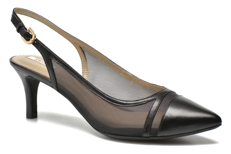 High heels Geox D ELINA C D62P8C Black detailed view/ Pair view