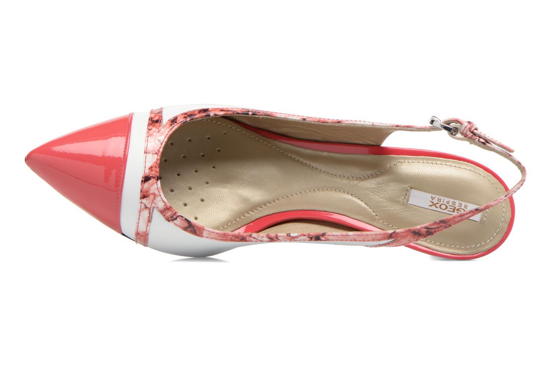 Zapatos de tacón Geox D ELINA B D62P8B Rosa vista lateral izquierda