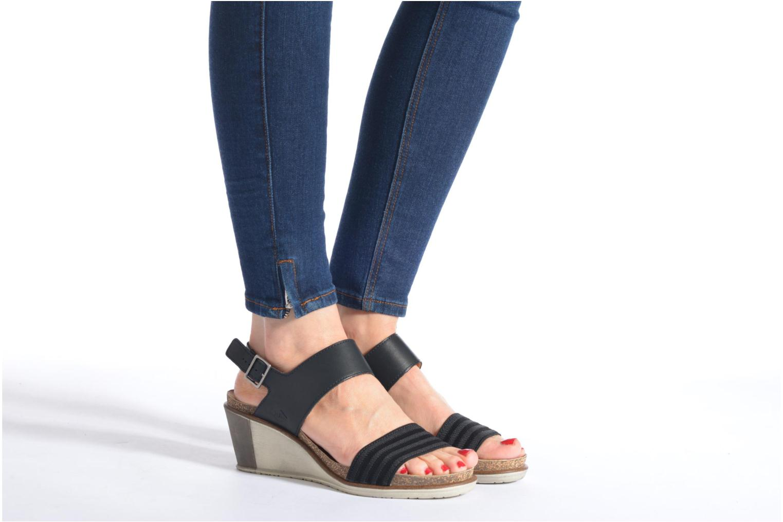 Sandales et nu-pieds P-L-D-M By Palladium Sheldon Vgt Noir vue bas / vue portée sac
