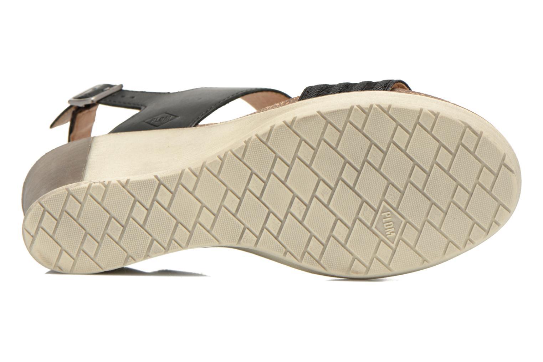 Sandales et nu-pieds P-L-D-M By Palladium Sheldon Vgt Noir vue haut
