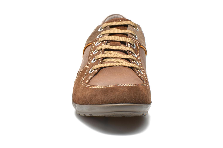 Baskets Geox U SYMBOL A U62A5A Marron vue portées chaussures
