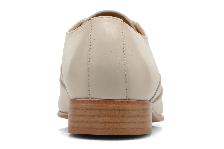 Zapatos con cordones Le Formier Kach11A Beige vista lateral derecha