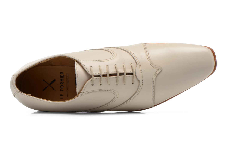 Zapatos con cordones Le Formier Kach11A Beige vista lateral izquierda