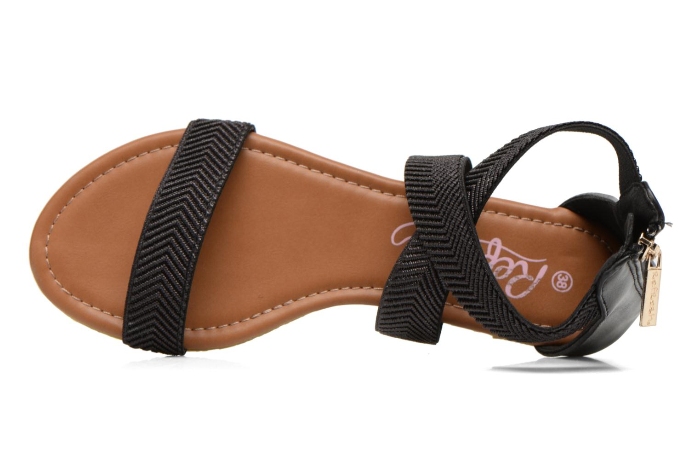 Sandales et nu-pieds Refresh Ballade 61831 Noir vue gauche