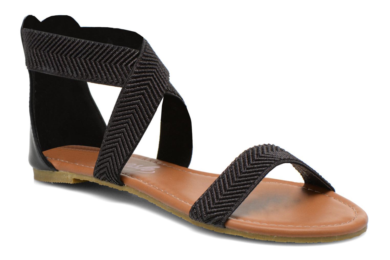 Sandales et nu-pieds Refresh Ballade 61831 Noir vue détail/paire