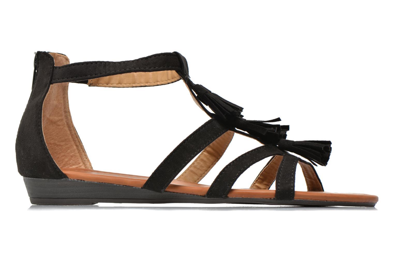 Sandales et nu-pieds Refresh Festival 61859 Noir vue derrière
