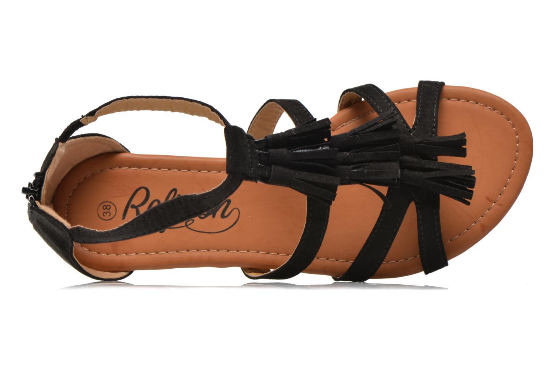 Sandales et nu-pieds Refresh Festival 61859 Noir vue gauche