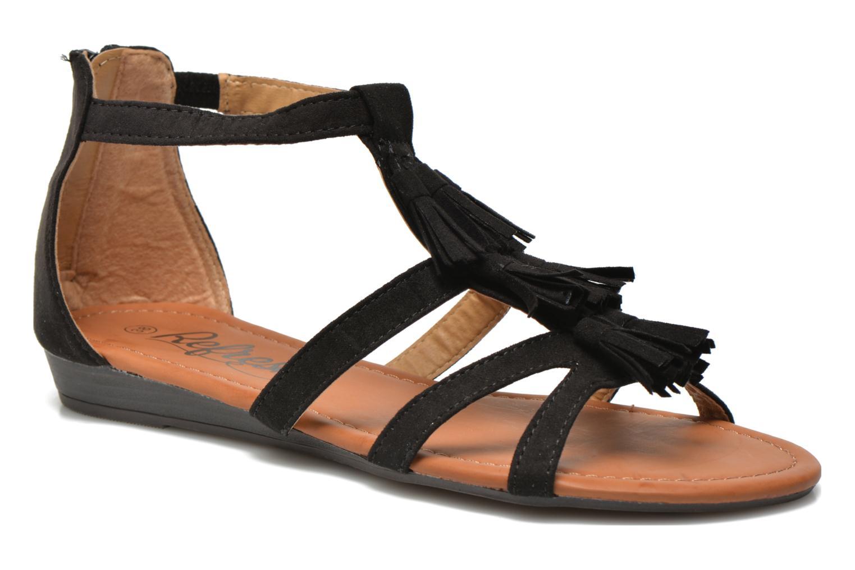 Sandales et nu-pieds Refresh Festival 61859 Noir vue détail/paire
