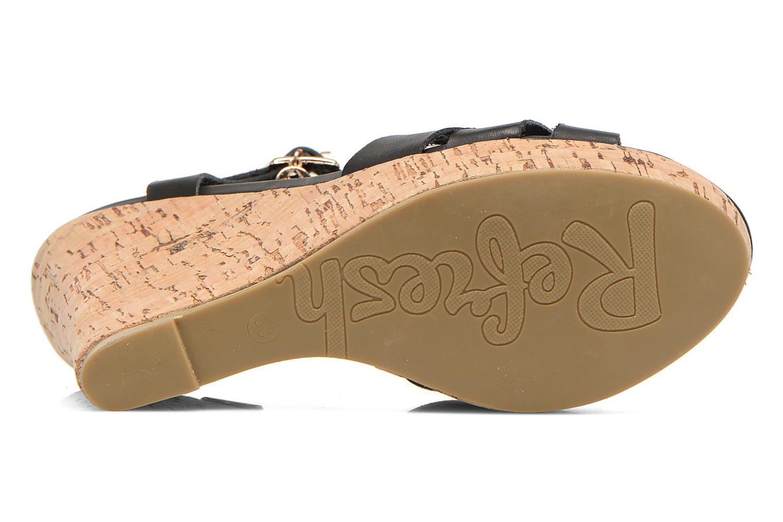 Sandales et nu-pieds Refresh Jungle 61823 Noir vue haut