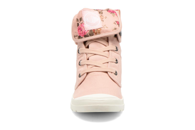 Baskets Palladium Pallaroute TW Rose vue portées chaussures