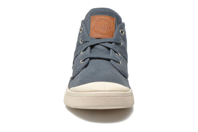 Baskets Palladium Pallarue Mid LC Bleu vue portées chaussures