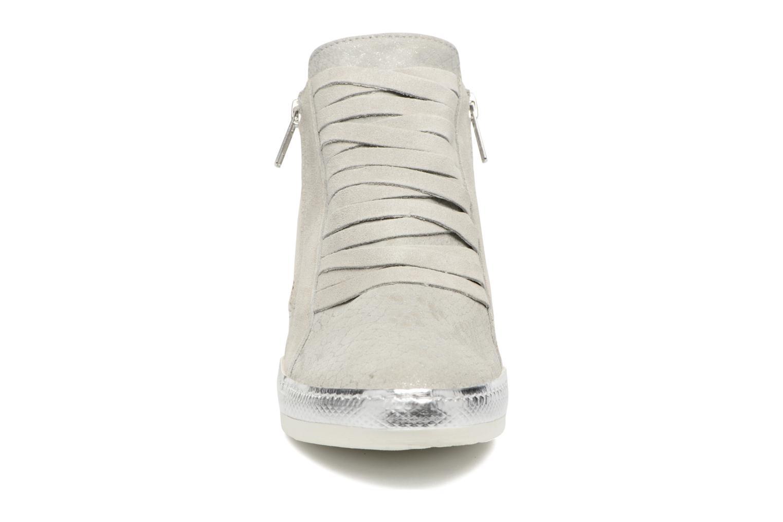 Baskets Khrio Fucio Argent vue portées chaussures