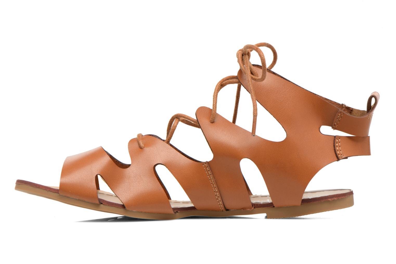 Sandales et nu-pieds Eclipse Sandale Lilly Marron vue face