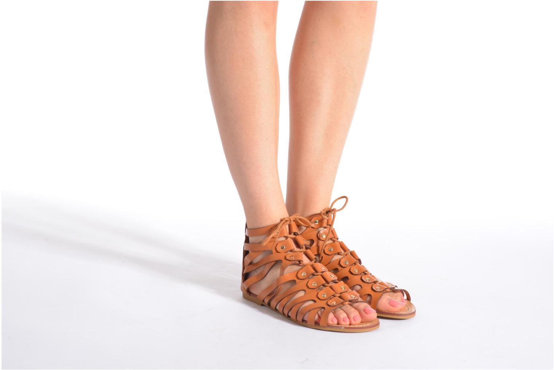 Sandales et nu-pieds Eclipse Sandale Ziggy Marron vue bas / vue portée sac