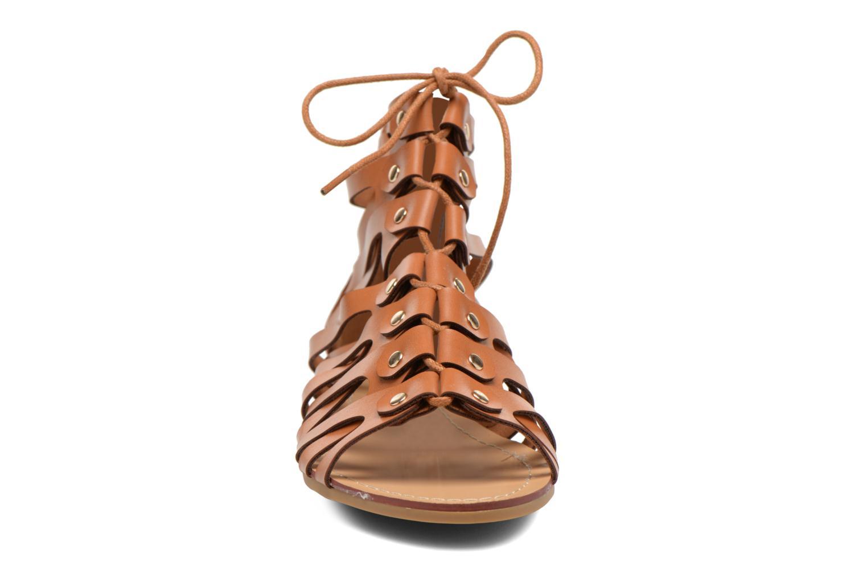 Sandales et nu-pieds Eclipse Sandale Ziggy Marron vue portées chaussures