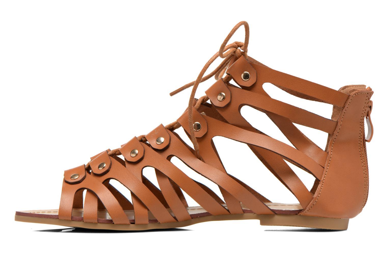 Sandales et nu-pieds Eclipse Sandale Ziggy Marron vue face