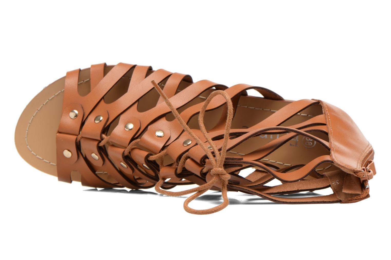 Sandales et nu-pieds Eclipse Sandale Ziggy Marron vue gauche