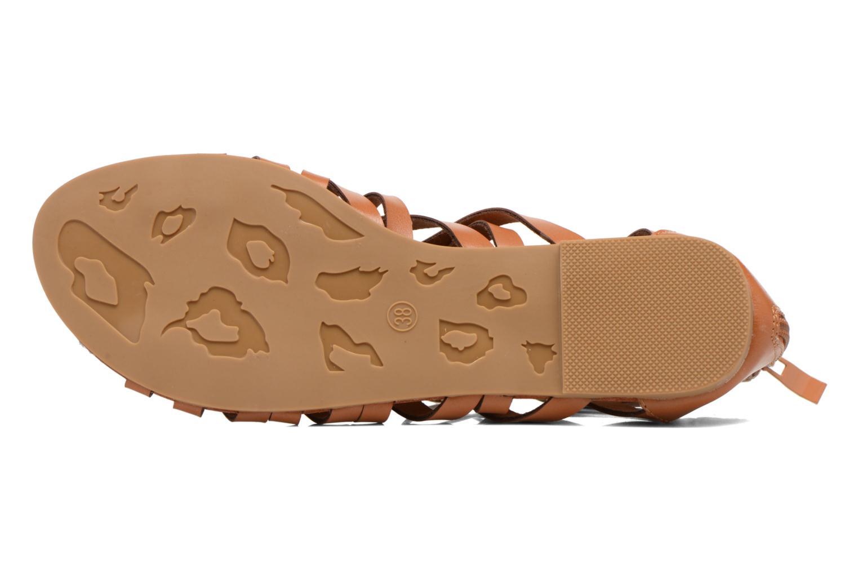 Sandales et nu-pieds Eclipse Sandale Ziggy Marron vue haut