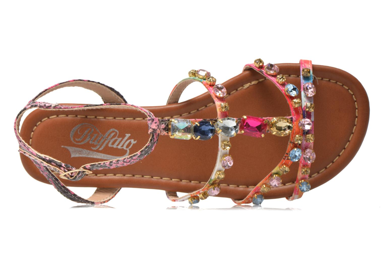 Sandales et nu-pieds Buffalo Glou Multicolore vue gauche
