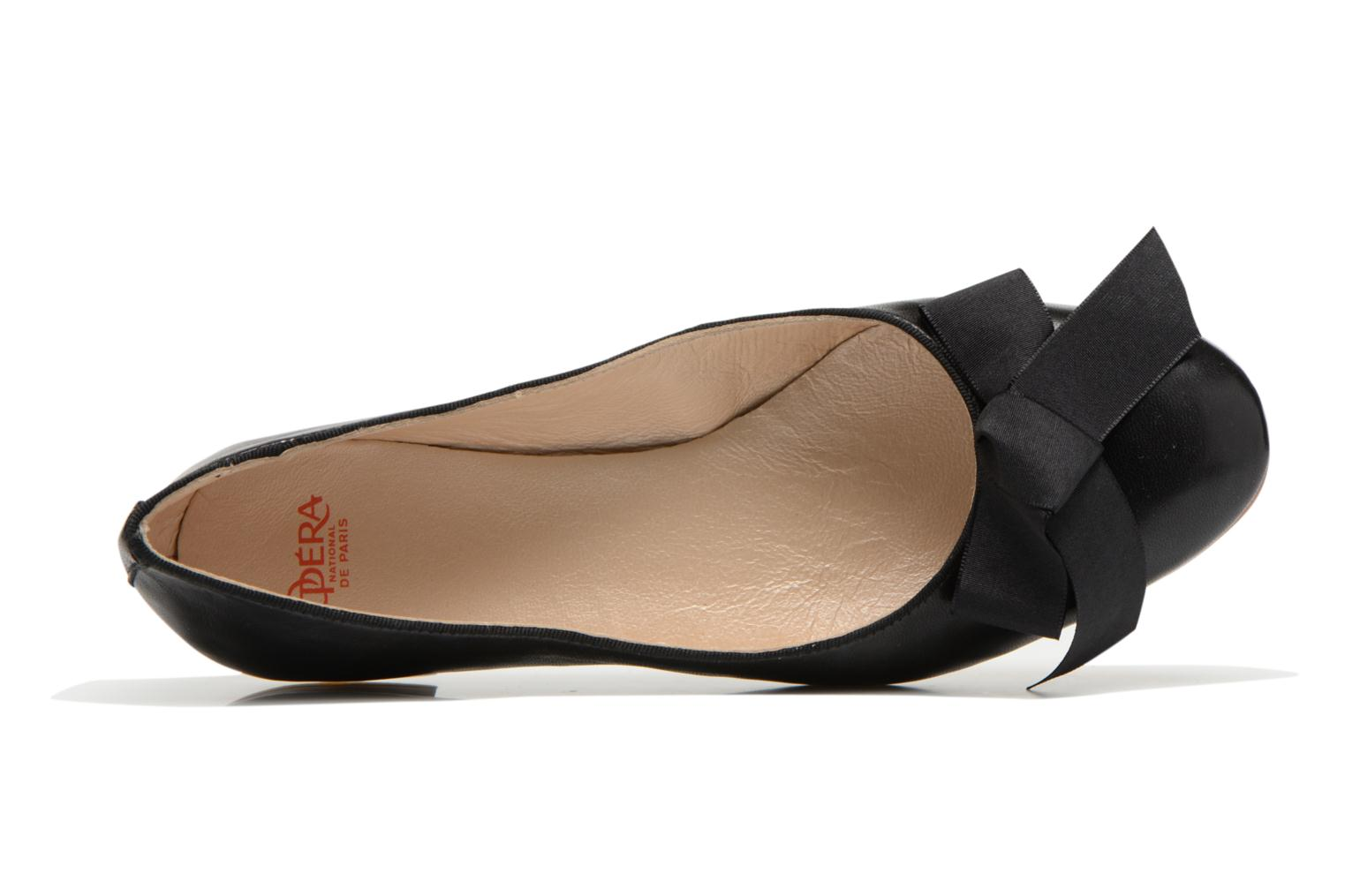 Ballet pumps Opéra national de Paris Endol Black view from the left