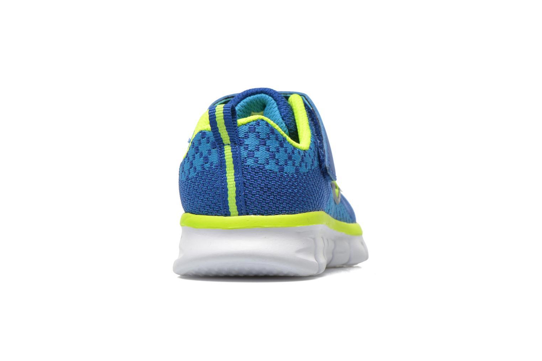 Baskets Skechers Synergy - Mini Knit Bleu vue droite