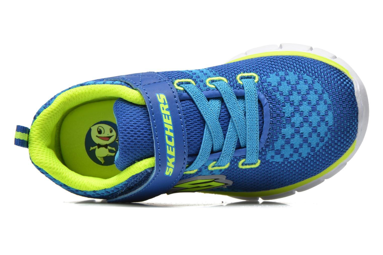 Baskets Skechers Synergy - Mini Knit Bleu vue gauche