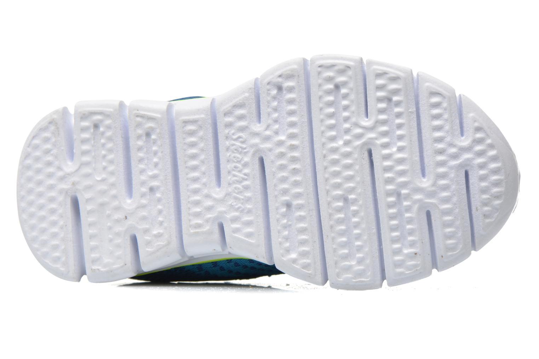 Baskets Skechers Synergy - Mini Knit Bleu vue haut
