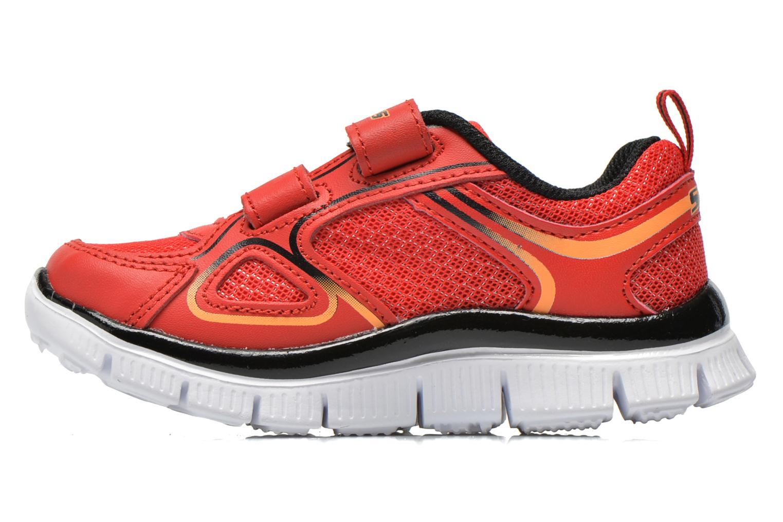 Sneakers Skechers Flex Advantage-Mini Rush Rosso immagine frontale