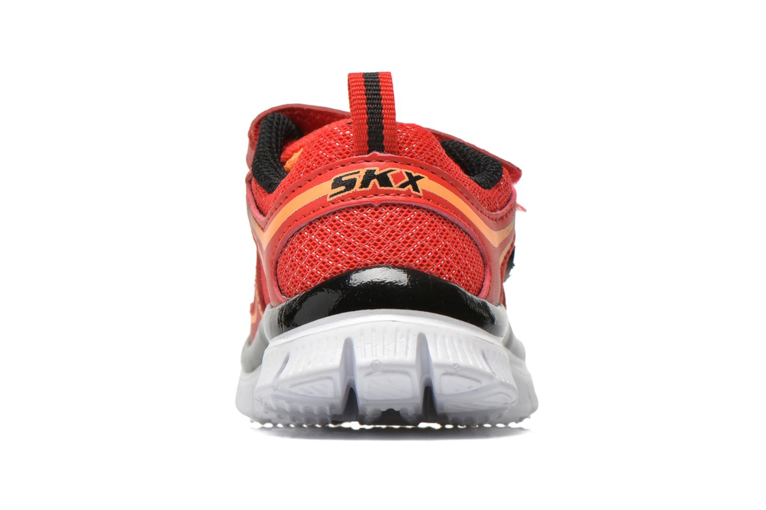 Baskets Skechers Flex Advantage-Mini Rush Rouge vue droite