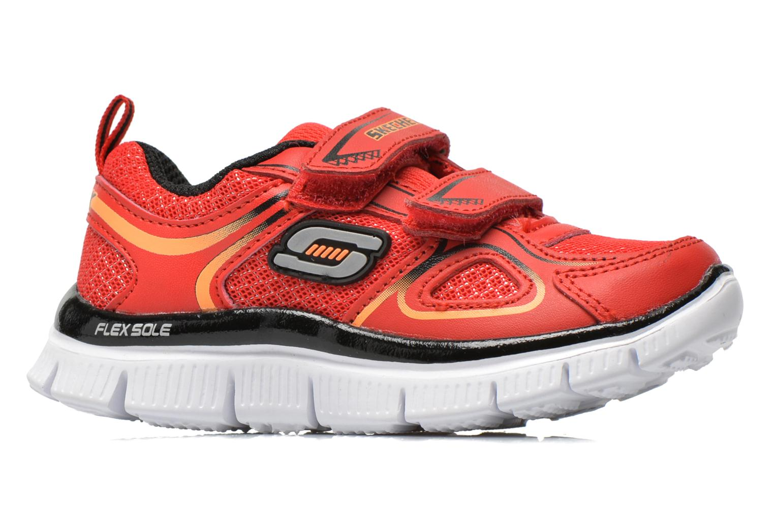 Baskets Skechers Flex Advantage-Mini Rush Rouge vue derrière