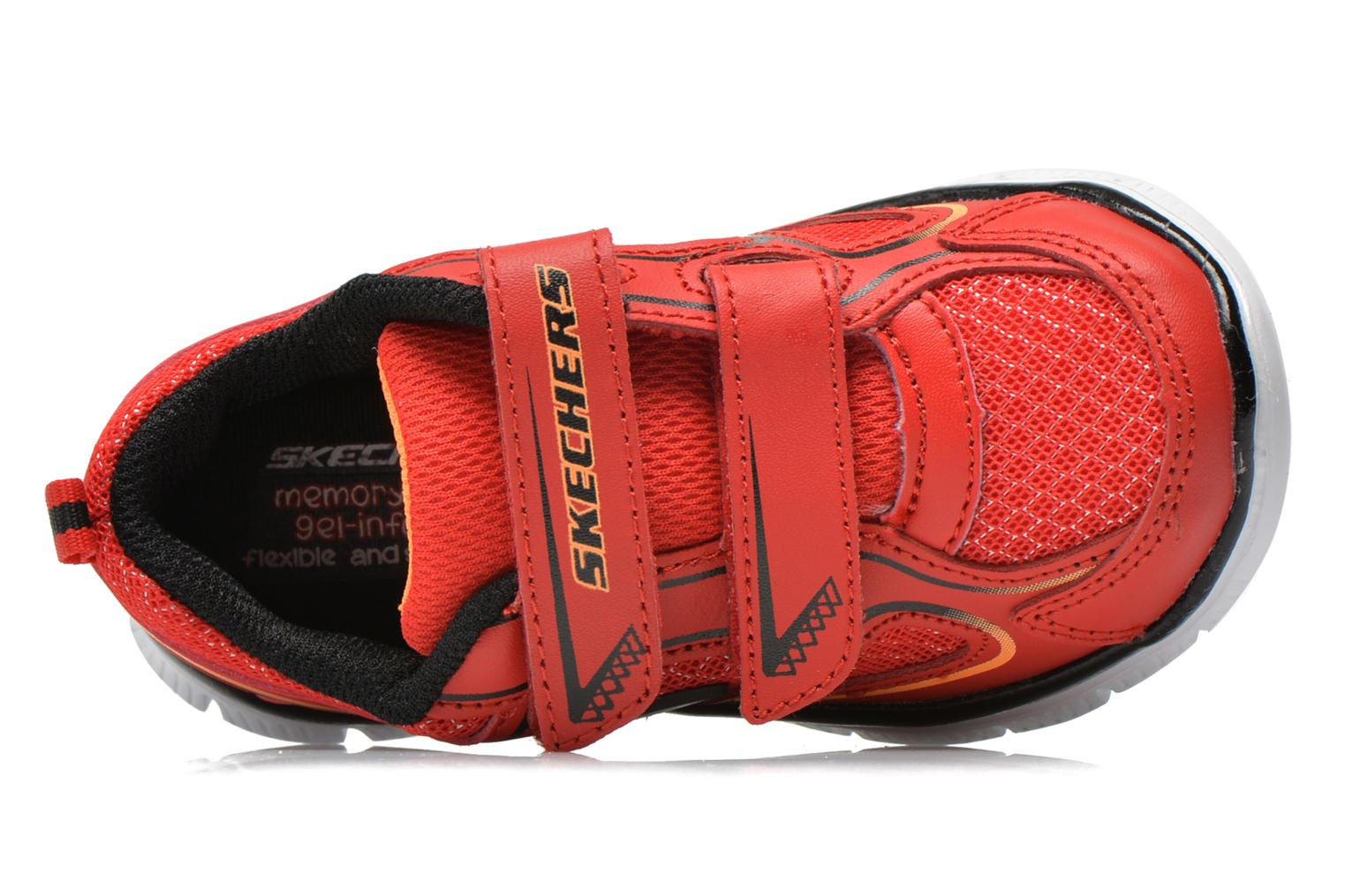 Baskets Skechers Flex Advantage-Mini Rush Rouge vue gauche