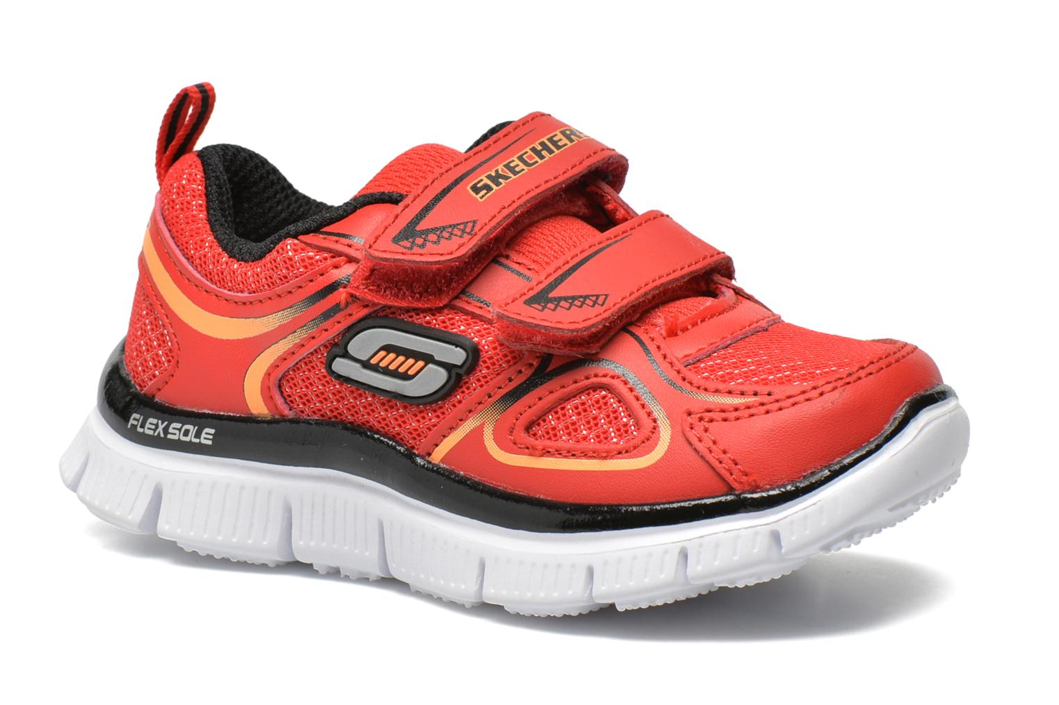 Baskets Skechers Flex Advantage-Mini Rush Rouge vue détail/paire