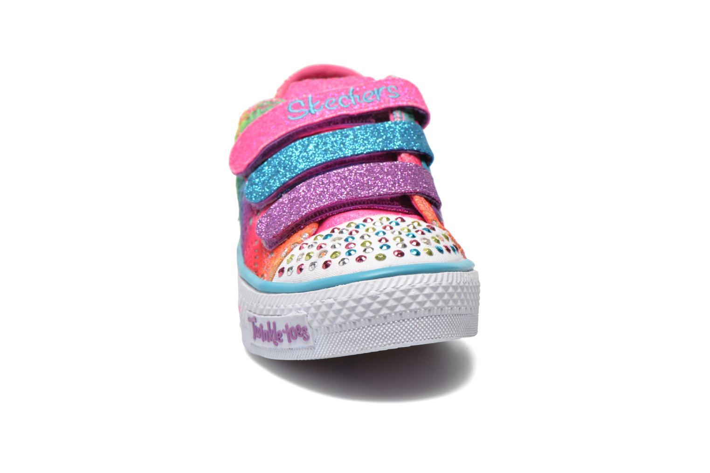 Baskets Skechers Shuffles- Rainbow Madness Multicolore vue portées chaussures