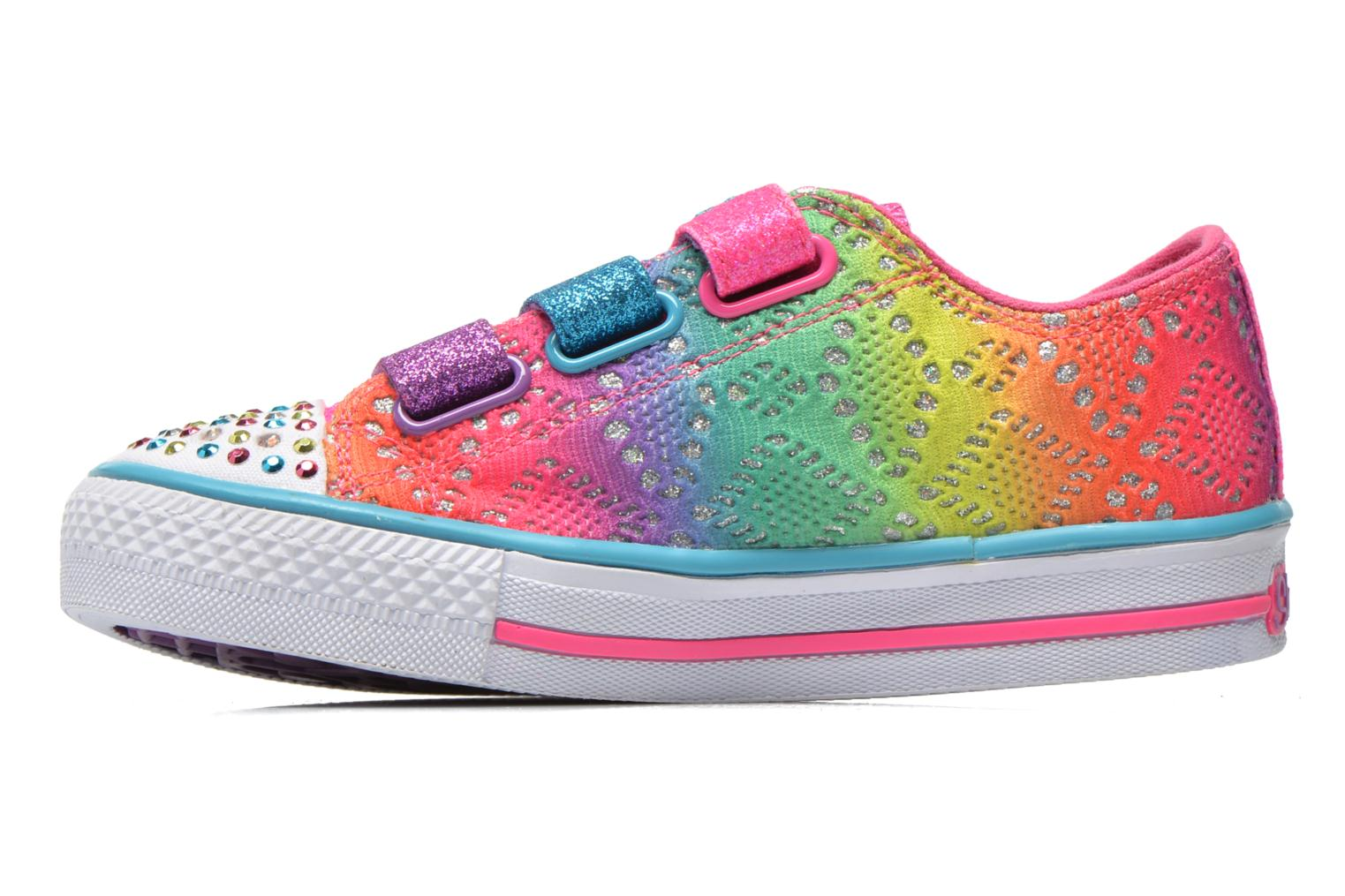 Baskets Skechers Shuffles- Rainbow Madness Multicolore vue face