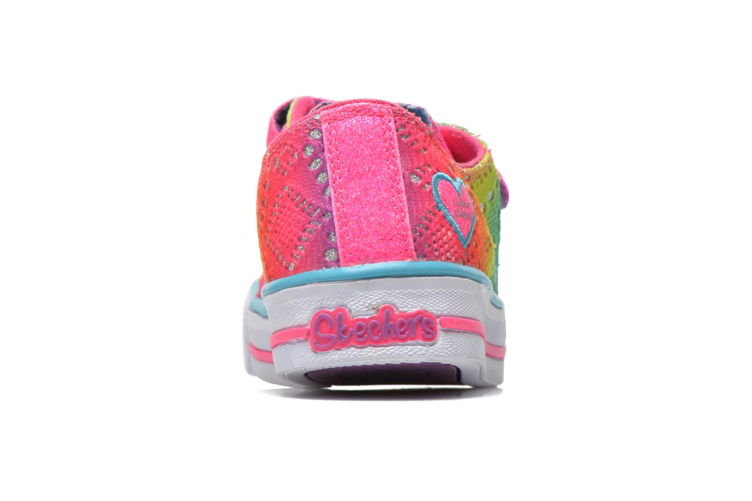 Baskets Skechers Shuffles- Rainbow Madness Multicolore vue droite