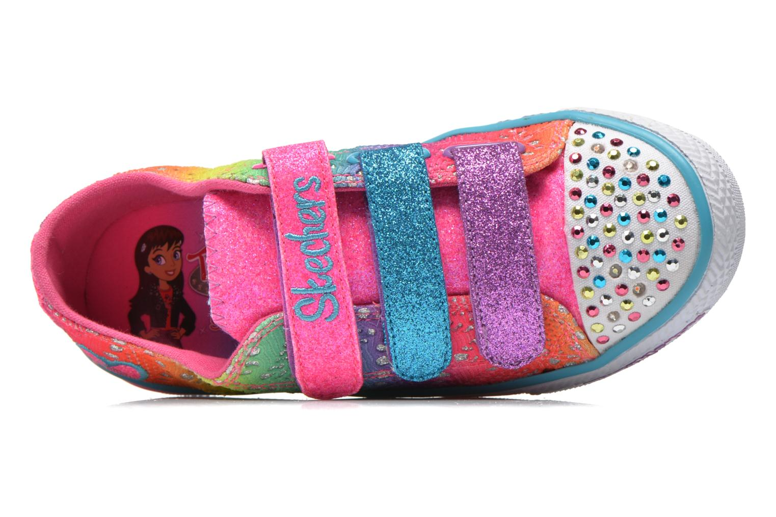 Baskets Skechers Shuffles- Rainbow Madness Multicolore vue gauche