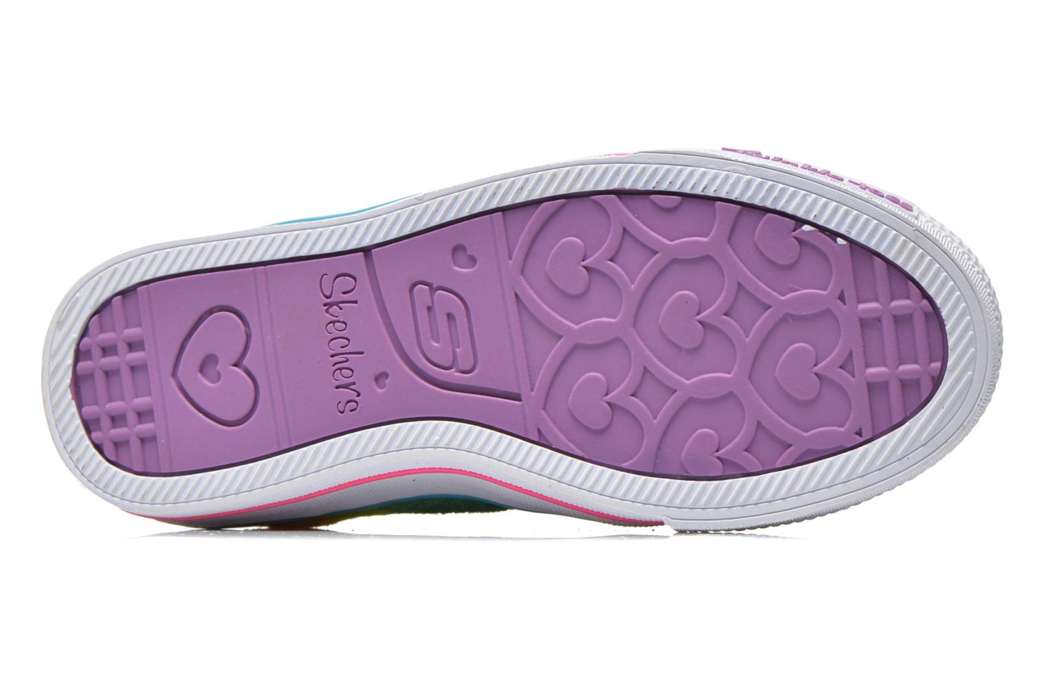 Baskets Skechers Shuffles- Rainbow Madness Multicolore vue haut