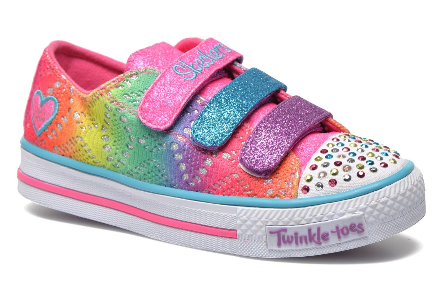Baskets Skechers Shuffles- Rainbow Madness Multicolore vue détail/paire
