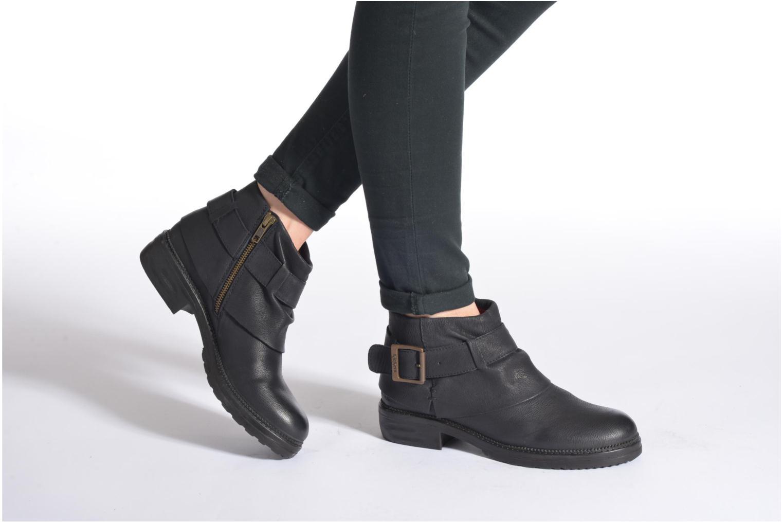 Bottines et boots Kickers Rotary Noir vue bas / vue portée sac